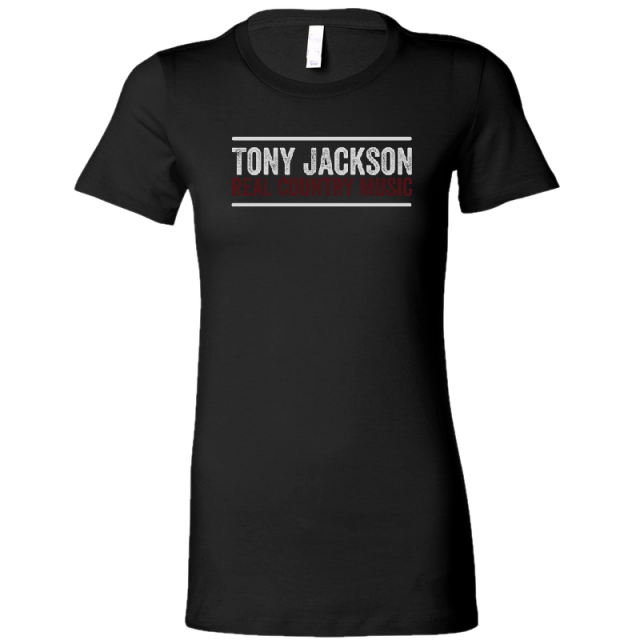 Tony Jackson Ladies Black Tee
